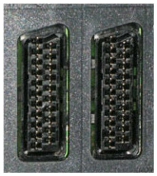 The SCART connector is the most common on older TVs