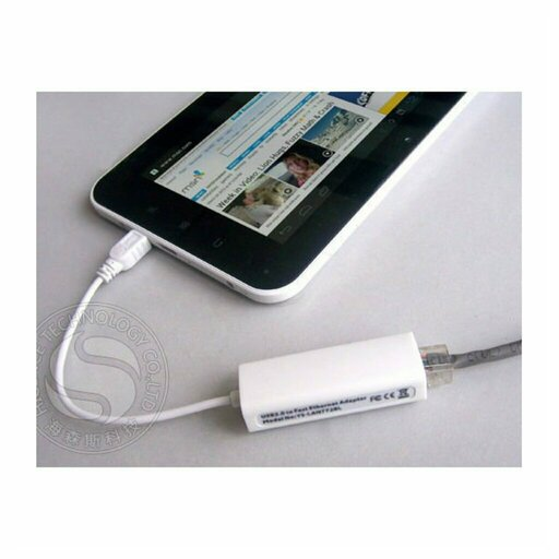 use of an adapter usb to RJ45 with a Tablet