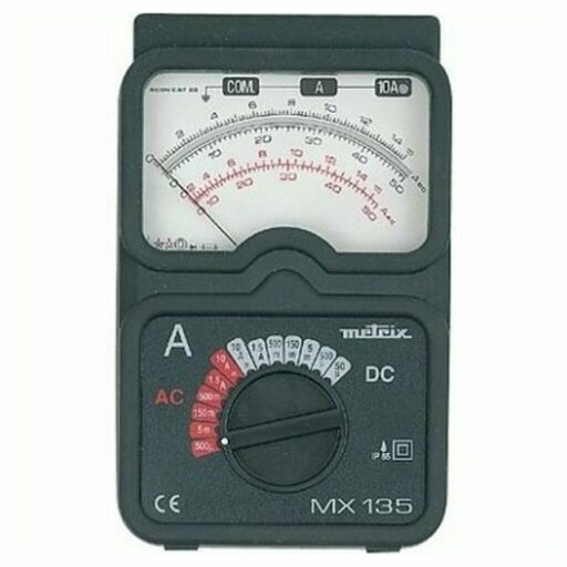 An ammeter is a measure of the intensity of an electric current in a circuit. The unit of measure of intensity is the ampere